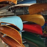 Rack of canoes