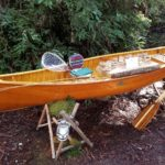 campground canoe with saw horse side resized