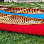 red and blue navarro canoes