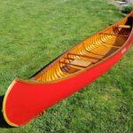 red glass canoe